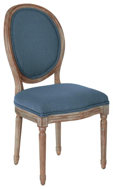 Genial Lillian Oval Back Chair, Azure