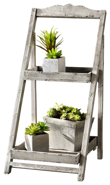 foldable wooden plant stand for outdoor greenhouse 2 shelves rh houzz com