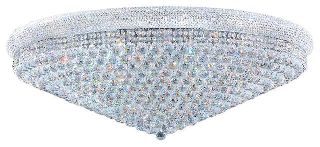 Empire 33 Light Chrome Finish Crystal Flush Mount Ceiling Extra Large