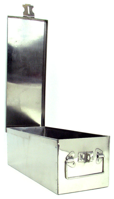 """Oversized 12"""" Metal Storage Lock Box With Handle By Stalwart."""