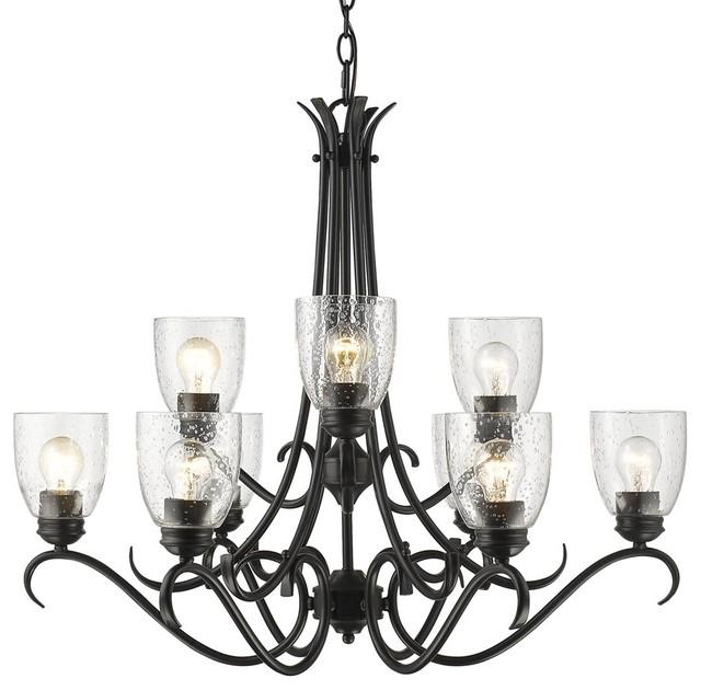 Parrish 9-Light Chandelier, Black