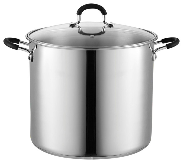Cook N Home 02441 Stockpot Saucepot With Lid Induction Compatible, 12 Quart.