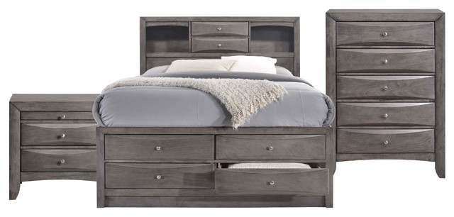 Picket House Furnishings Madison Queen Storage 3-Piece Bedroom Set.