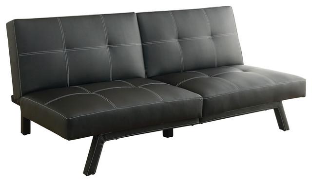 Magnificent Homelegance Only Elegant Lounger In Matte Black Bi Cast Vinyl Uwap Interior Chair Design Uwaporg