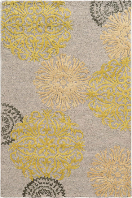 Rizzy Eden Harbor Eh8639 Gray Yellow 2 6 X 8 Rug Contemporary