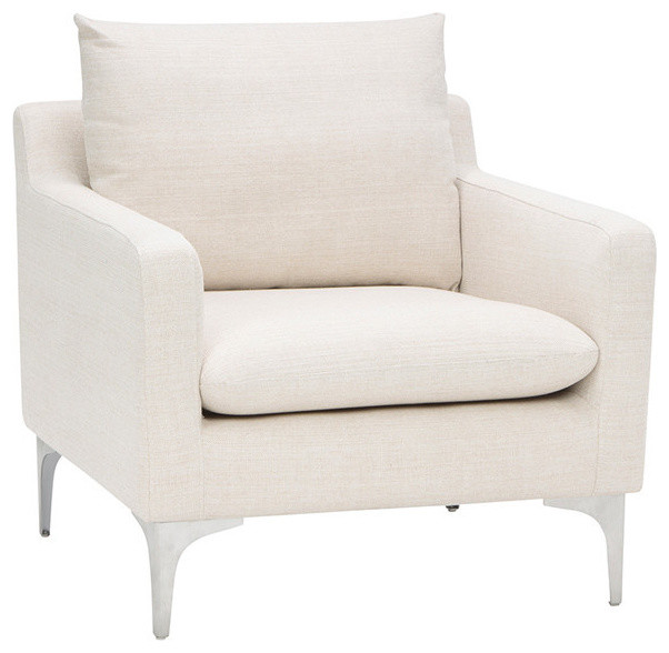 Anders Sand Fabric Single Seat Sofa