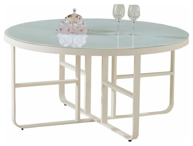 Polo Modern Outdoor Round Dining Table For 8