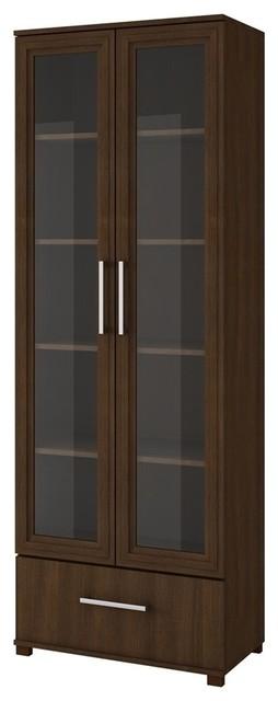 Accentuations By Manhattan Comfort Serra 10 5-Shelf Bookcase, Tobacco.