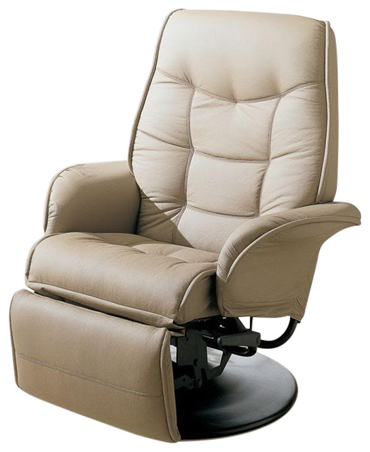 Coaster Berri Swivel Chaise Recliner With Flared Arms