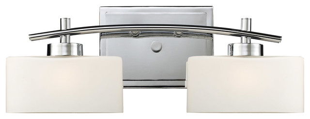 Eastbrook 2-Light Vanity, Polished Chrome.