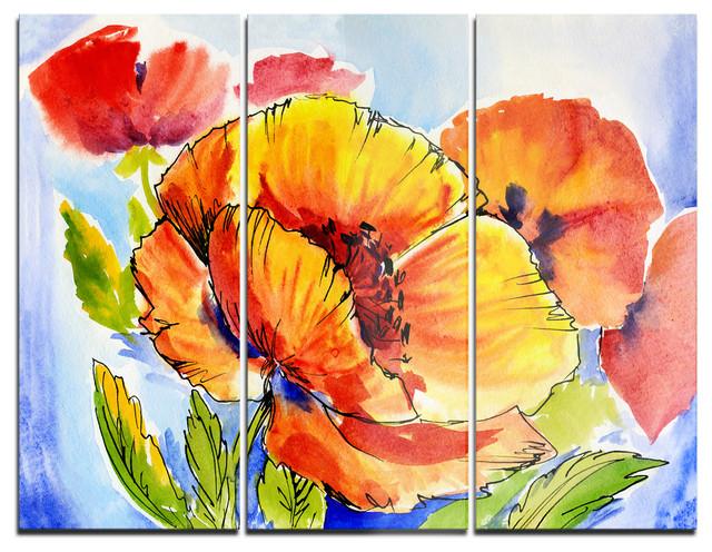 Excellent Poppies Wall Art Photos - Wall Art Design - leftofcentrist.com