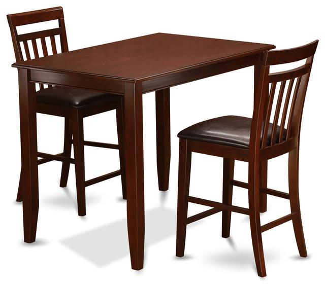 Groveland 3pc Square Dining Table With 2 Chairs: Buew-Mah Kitchen Table Set