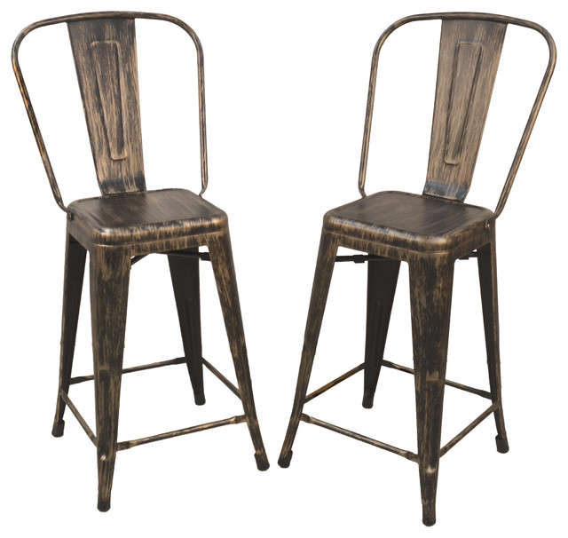 Adeline 24 Quot Counter Stool Set Of 2 Industrial Bar