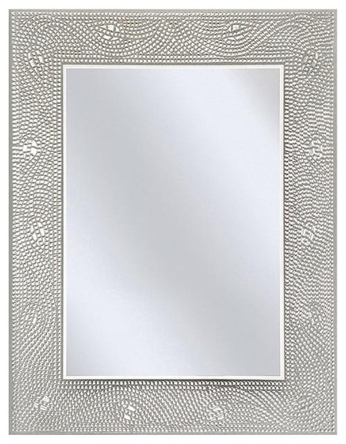 Rectangle Bathroom Vanity Mirror With Mosaic Crystal Fl Motif Border