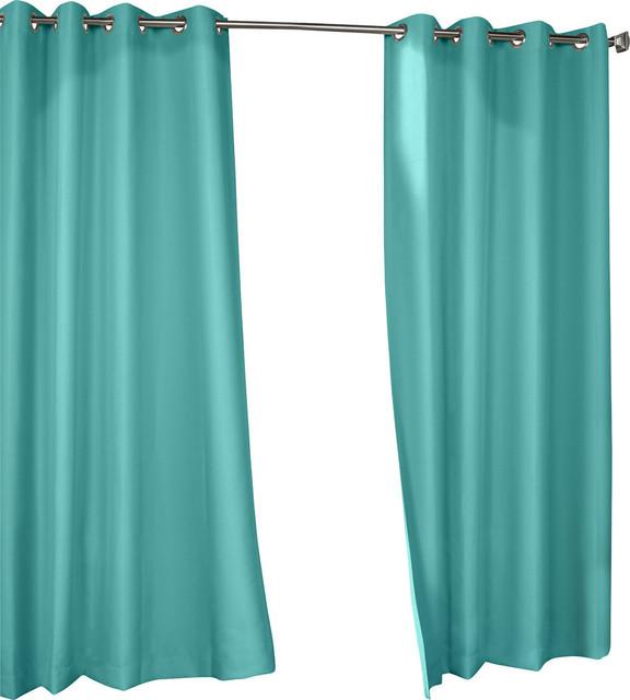Outdoor grommet top curtain panel aqua 50x108 transitional curtains