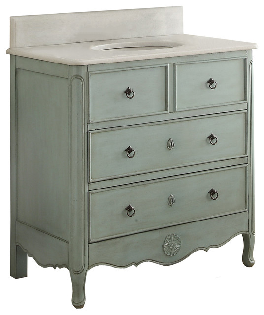 34 Daleville Chic Bathroom Vanity Traditional Bathroom Vanities And Sink Consoles By Chans Furniture Houzz