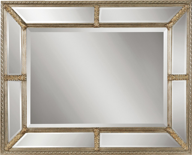 Lucinda Mirror With Beveled Mirror Frame Traditional Wall