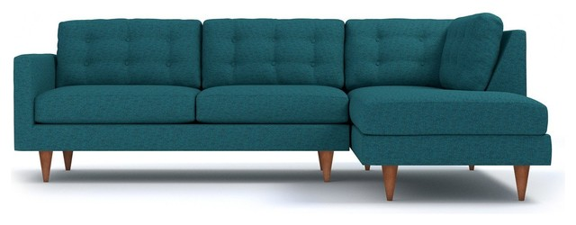 Logan 2-Piece Sectional Sofa, Chicago Blue, Chaise on Left