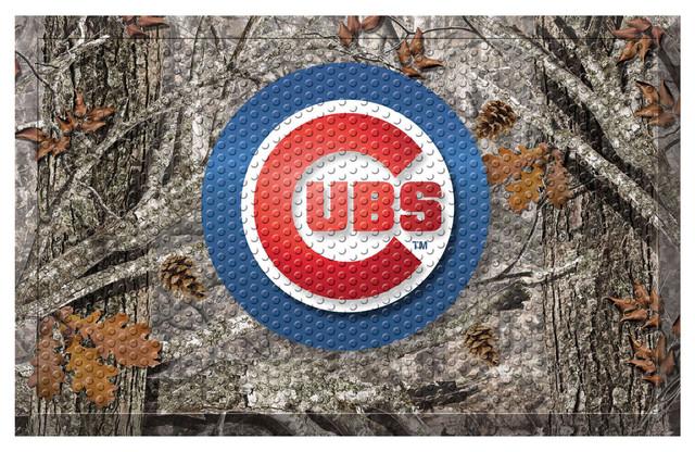 Indoor Mlb Chicago Cubs Scraper Mat 19 Quot X30 Quot Camo
