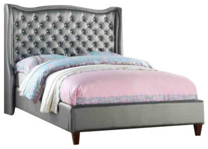 Full Size Tufted Beds Transitional Platform Beds By Custom