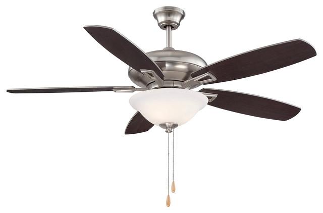Mystique 52 5 Blade Ceiling Fan, Satin Nickel.