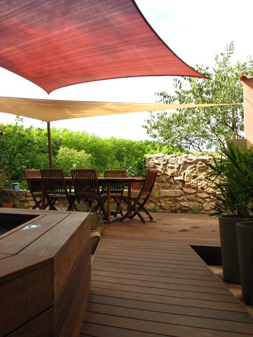 terrasse en bambou