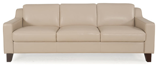 Cora Leather Sofa Transitional Sofas By Moroni