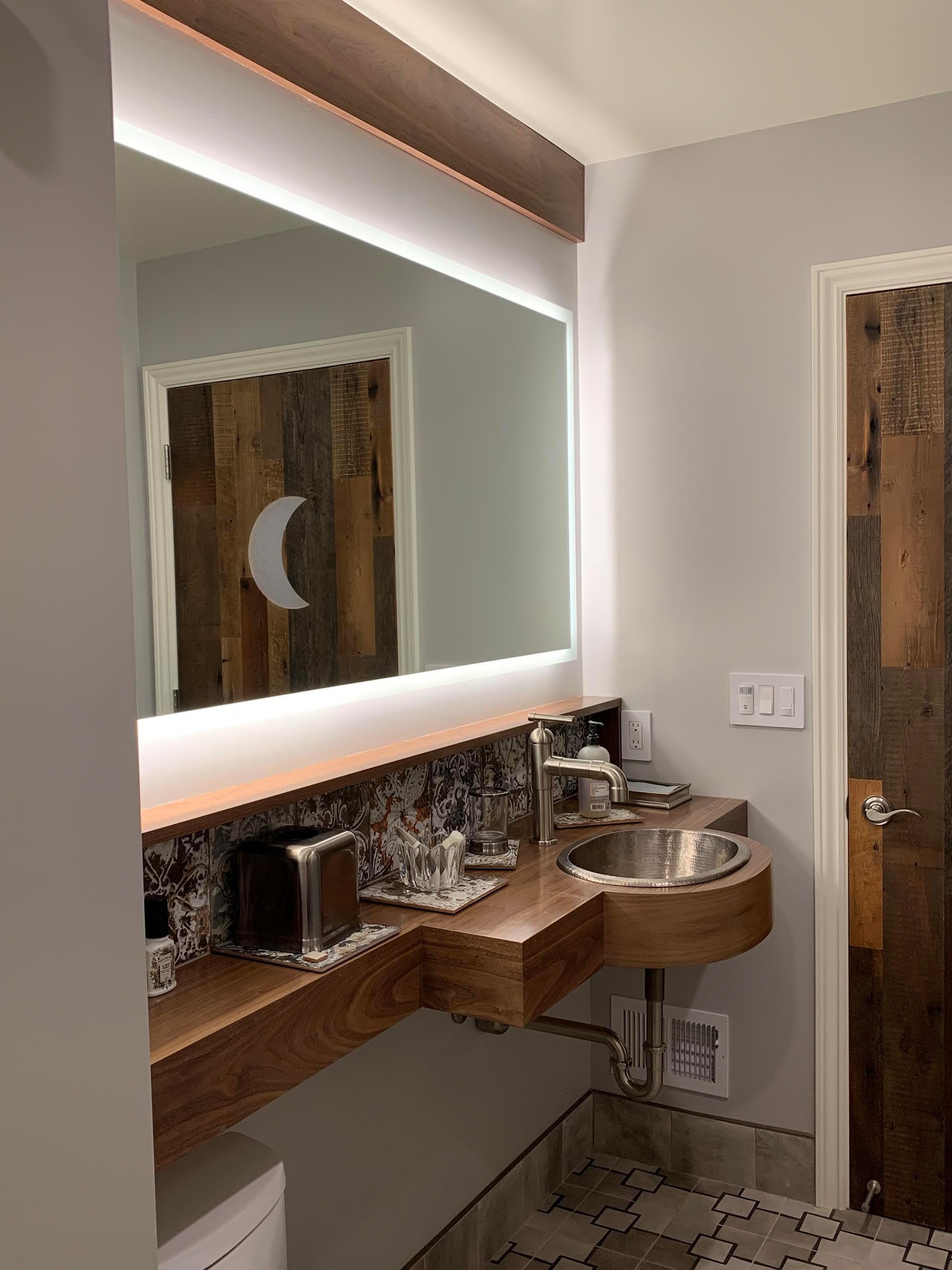 Unique Los Altos Hills Guest Bath
