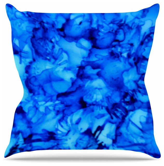 Throw Pillows Aqua Blue : Shop Houzz Kess InHouse Claire Day