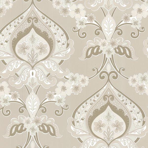ashbury beige paisley damask wallpaper bolt contemporary wallpaper - Contemporary Damask Wallpaper