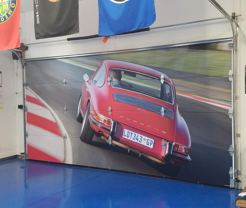 Mural Installs: Porsche Collector's Garage & Residence