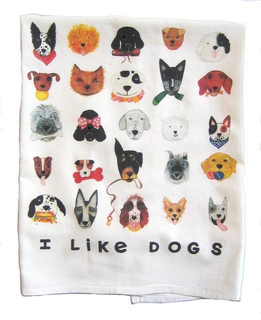 I Like Dogs Kitchen Towel