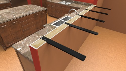 15 granite counter overhang supports for Cantilever counter support