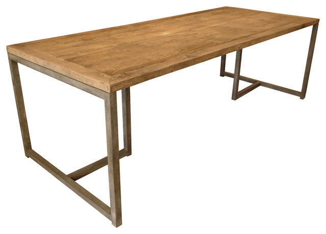 industrial loft aged oak large dining table industrial dining tables