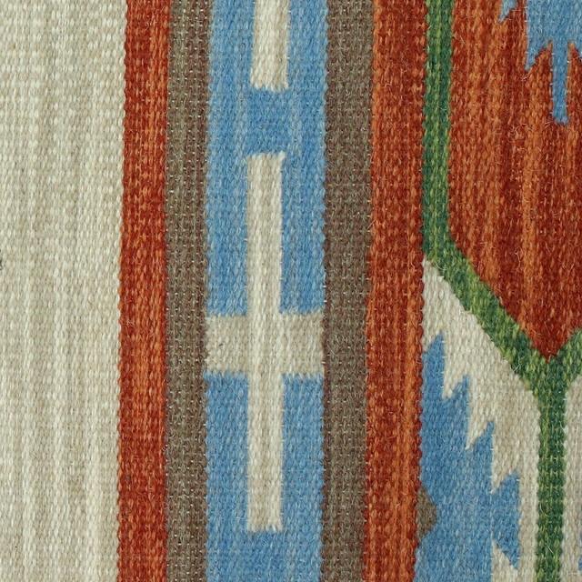 Indian Style Wool Dhurrie Rug, 4x6