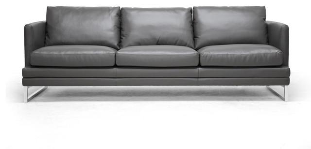 Groovy Baxton Studio Dakota Pewter Gray Leather Modern Sofa Creativecarmelina Interior Chair Design Creativecarmelinacom
