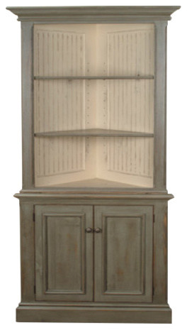 Heritage Corner Cabinet Transitional China Cabinets And
