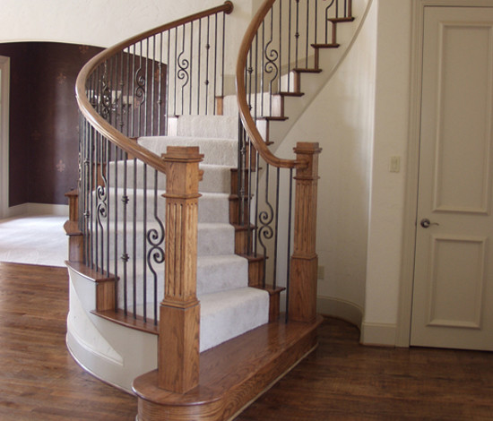 Home Stair Remodel American Traditional