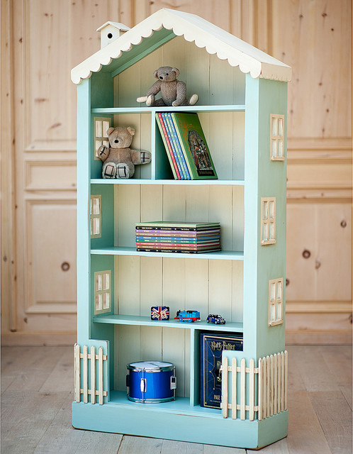 Cottage Dollhouse Tall Bookcase Traditional Baby And Kids
