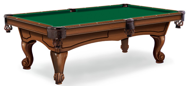 Hainsworth Elite Pro 7u0027 Tournament Green Pool Table Cloth Traditional Game  Tables