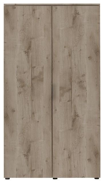 Brooklyn Smoked Oak 2-Door Wardrobe