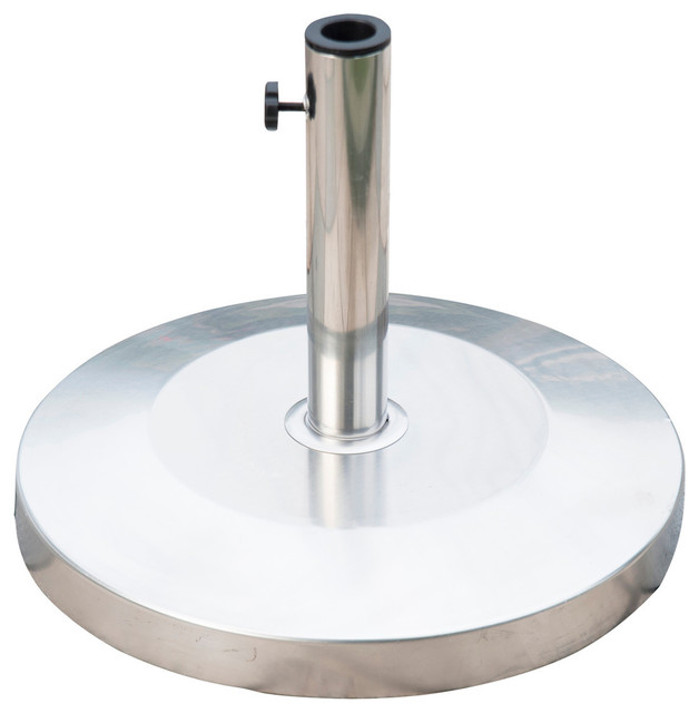 Outsunny 19 Round 55lb Stainless Steel Patio Umbrella Stand Base