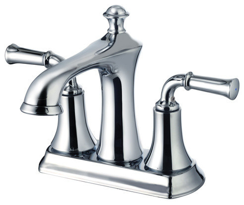 Two Handle 4 Inch Center Set Lavatory Faucet Transitional Bathroom Sink Faucets By