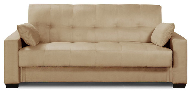 Lifestyle Solutions Napa Convertible Sofa In Beech Traditional Futons
