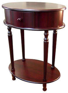 """Oval Side Table, Cherry, 28"""""""