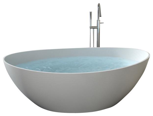 Badeloft UPC Certified Stone Resin, Freestanding Bathtub
