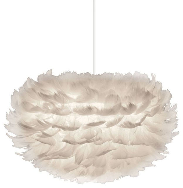 Suspension design en plumes eos dimensions small modern pendant lighting - Suspension plumes blanches ...