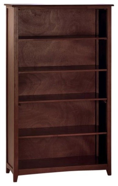 Craftsman 5 Shelf Bookcase, Cherry.