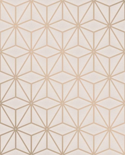 Augustin Rose Gold Geometric Wallpaper Bolt
