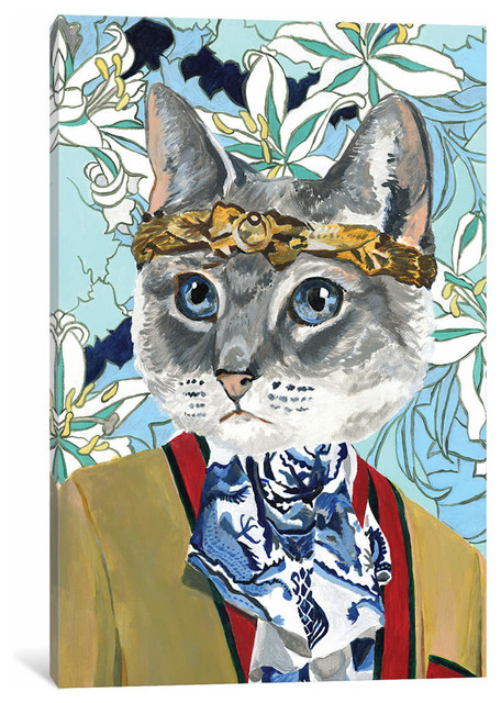 8d0891597b33 Gucci Cat by Heather Perry Canvas Print - Eclectic - Prints And Posters - by  iCanvas